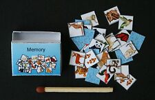 Memory Miniatur Spiel  1:12 Puppenstube Setzkasten Diorama  Puppenhaus