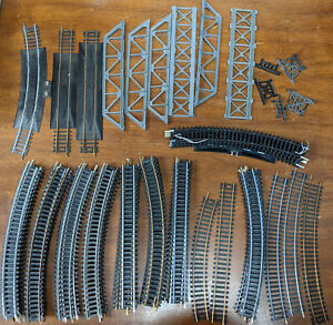 TYCO, ATLAS Curved & STRAIGHT TRACK ReRailer 60+ PIECE LOT VINTAGE HO H0 SCALE