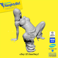 Naughty Skirt girl Resin Kits Unpainted Figure GK YUFAN Model 1/32