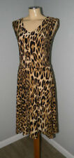 RALPH LAUREN ~ ANIMAL PRINT Jersey Knit Dress S NWT $158