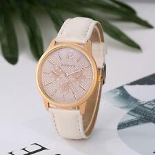 GAIETY Womens Ladies Watches Leather Rose Gold Analog Quartz Round Wrist Watch