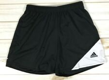 Adidas Boys Athletic Shorts Climalite Size Small 8-10 Elastic Waist Black A4714