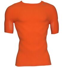ADIDAS MENS TECHFIT CLIMACOOL FITTED TRAINING TOP - ORANGE/BLACK - MEDIUM - NEW