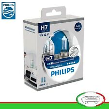 Ampoules Philips Blanc Vision H7 - 12v 55w +60% + 2 Lampes Emplacement W5w