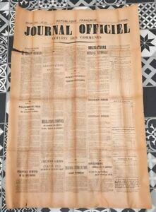 Affiche Journal Officiel édition des communes datée du 4 avril 1915