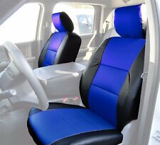 DODGE RAM 2009-2016 BLACK/BLUE LEATHER-LIKE CUSTOM MADE FIT FRONT SEAT COVER
