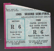 1965 Second Semi Final Used Ticket St Kilda vs Collingwood Saints  won