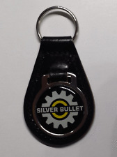 Reproduction Vintage SkiDoo Silver Bullet/Yellow Snowmobile  Leather Keychain