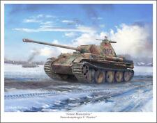 "Panther Tank Mark Karvon Military Art Print 11"" x 14"""