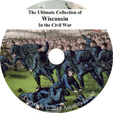 Wisconsin Civil War Books - History & Genealogy - 22 Books on DVD
