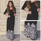 Fashion Women Summer Lace Long Sleeve Party Evening Cocktail Maxi Long Dress E