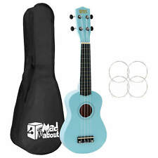More details for mad about soprano beginners ukulele with bag, pick & carbon strings - light blue