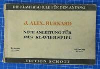 J.Alex.Burkard Neue Anleitung für das Klavierspiel Edition Schott B-19568