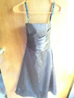 New Alfred Angelo Junior's Espresso Strapless Sleeveless Bridesmaid Dress Size 8