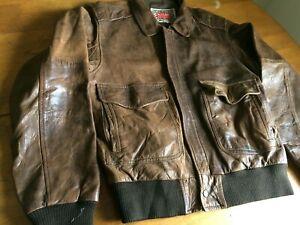 Vintage M.Julian Wilsons Leather Bomber Jacket Men