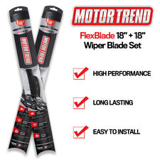 "18"" & 18"" All Season Wiper Blades Motor Trend Bracketless J-HOOK Installation"