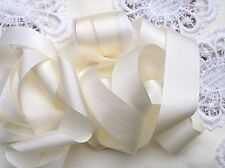 """100% PURE SILK RIBBON~IVORY~5 YDS 1"""" WIDE[25MM]"""