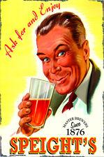 Enjoy Speight's Ale Metal Sign