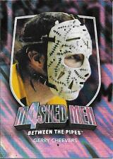 11/12 Between The Pipes Masked Men IV Silver #50 Gerry Cheevers SP/90