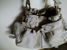 White distressed leather Xude handbag