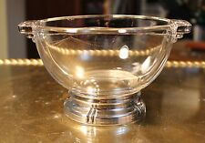 Vintage Baldwin & Miller B & M Sterling Silver Rim Divided Glass Candy Bowl