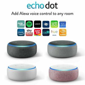 Amazon Echo Dot 3rd Generation Smart Speaker with Alexa - Black/Grey/White/Plum