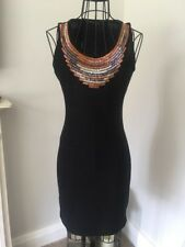 NEW Lovely Black Sexy Bodycon / Gorgeous Fitted Dress - Party Clubwear- Size 10