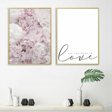 Cartel De Lona Floral Casa Pared Arte Decoración de la sala de estar Impresión Nordic Lindo Pintura