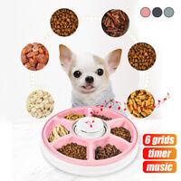 AUTO Dog Pet Feeder Dispenser Food Bowl 6 Meal Automatic Program Digital Musical