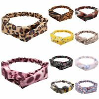 Floral Leopard Knotted Elastic Hair Bands Turban Twist Knot Head Wrap Head Bands