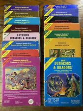 13 Dungeons & Dragons Modules Expert Rules Masters Screen TSR 1980-81 Advanced
