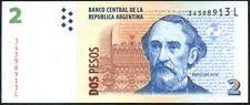 ARGENTINA   2  PESOS  2012   Serie L   P 352 NEW     Uncirculated Banknotes