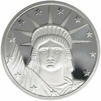 1 -  1 oz. 999 Fine Silver Round - Statue of Liberty- BU - New