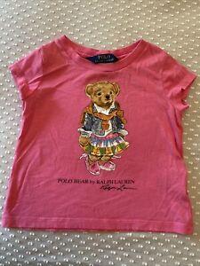 Ralph Lauren, Girls T-shirt, Pink, Teddy, Age 2