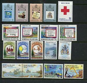 Norfolk Island #457-474 (NO009) (6) complete sets, MNH, VF
