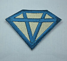 SILVER DIAMOND HEN PARTY 8cm Embroidered Iron Sew On Cloth Patch Badge APPLIQUE