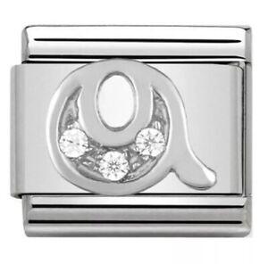 Nomination Classic Silver Cubic Zirconia Initial Q