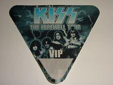 KISS Band Farewell Concert Tour 2000 VIP Blue Satin Backstage Pass UNUSED