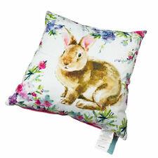 "Easter Bunny Rabbit Floral Beaded 20"" High Design Decorator Down Toss Pillow"
