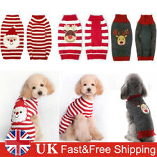 More details for christmas pet puppy dog cat winter thermal jumpers costume santa claus sweater
