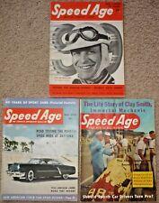 Lot of 3 SPEED AGE Magazines, 1951 Motor Survey Issue, 1953 & 55 Magazine