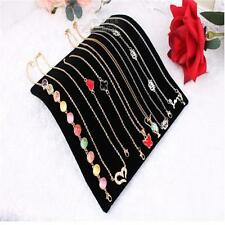 Velvet Necklace Chain Pendant Display Jewelry Organizer Stand Holder TO