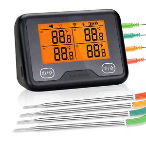 Inkbird WLAN Bluetooth Grillthermometer IBBQ-4BW WiFi Fleischthermometer 4 Probe
