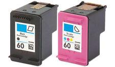 2pk #60 Ink For HP Deskjet D1660 D2530 D2560 D2645 D2680 F2400 F2430 F2480 F4210