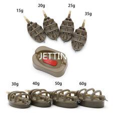 Set Carp Fishing Inline Method Feeder 4 Feeders 15/20/25/35g 30/40/50/60g Sk J2