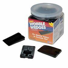 Wobble Wedges Vinyl Rubber Type Texture Black Restaurant Table Shims 30 Piece