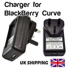 CARICABATTERIE E-M1 UK Plug AC principale da viaggio compatto Blackberry Curve 9360 9370