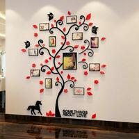 3D Tree Pattern Photo Frame Wall Sticker Acrylic High Hardness DIY Durable