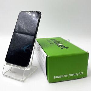 Open Box-Cricket Samsung Galaxy A01 16GB LTE 5.7HD 13MP (SM-A015AZ) LOCKED *RED*