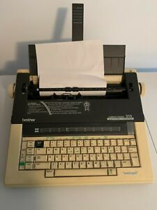 Brother 310 Electric Typewriter With Cover + Ribbons - Tested